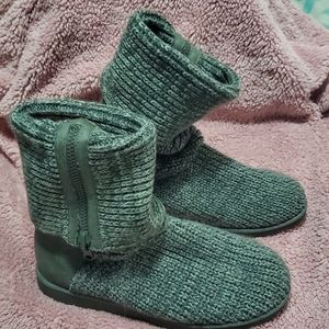 SO Shoes - SO Sweater Knit Boots